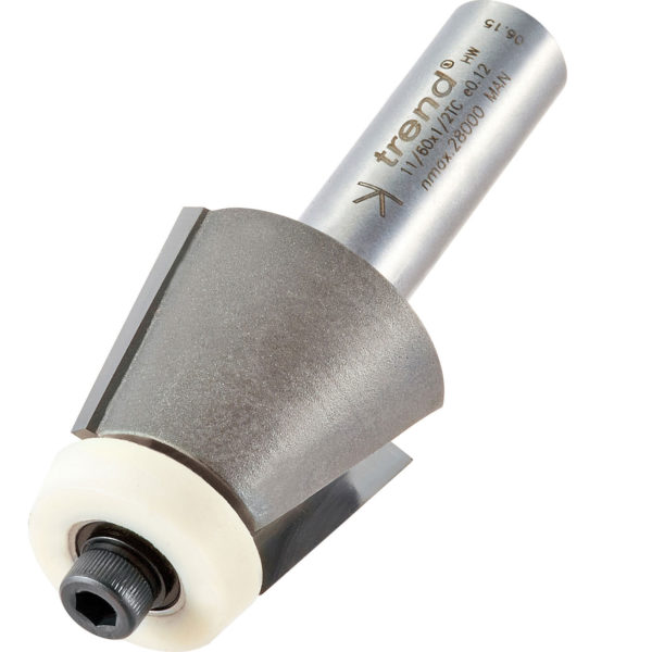 """Trend Bearing Guided Undermount Bowl Bevel Router Cutter 32mm 25mm 1/2"""""""