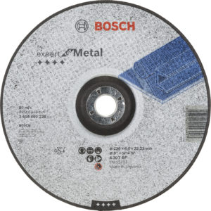 Bosch A30T BF Drepressed Centre Metal Grinding Disc 230mm