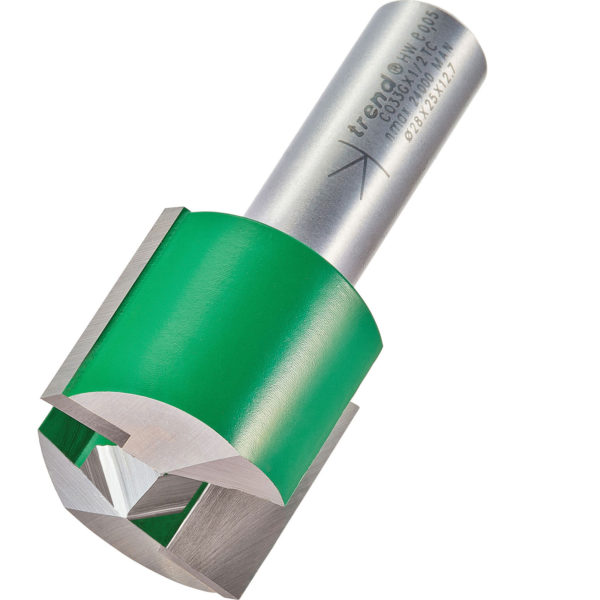 """Trend CRAFTPRO Two Flute Straight Router Cutter 28mm 25mm 1/2"""""""