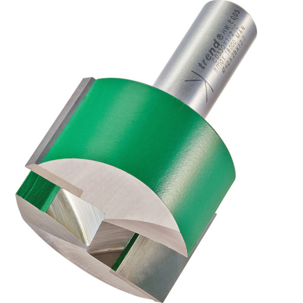 """Trend CRAFTPRO Two Flute Straight Router Cutter 40mm 25mm 1/2"""""""