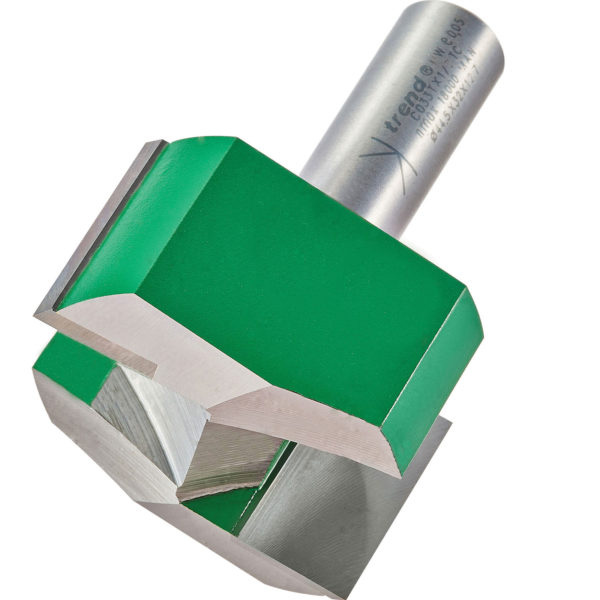 """Trend CRAFTPRO Two Flute Straight Router Cutter 44.5mm 25mm 1/2"""""""