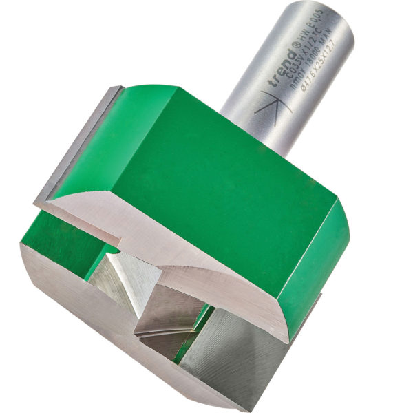 """Trend CRAFTPRO Two Flute Straight Router Cutter 47.6mm 32mm 1/2"""""""