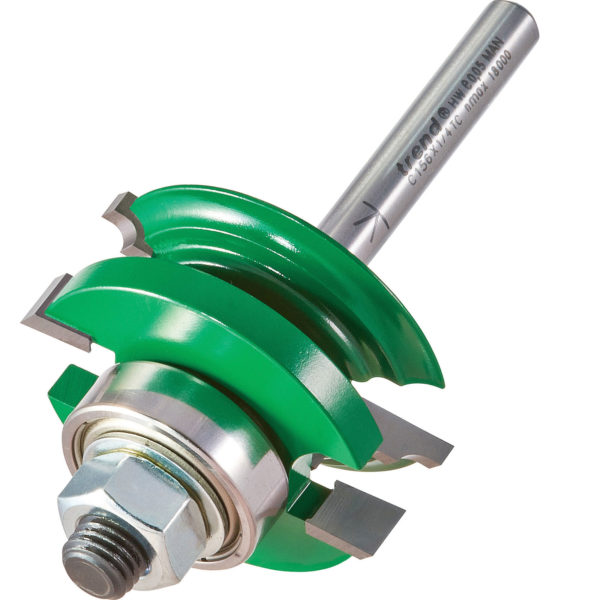 """Trend CRAFTPRO Bearing Guided Flat Classic Router Cutter 41mm 17mm 1/4"""""""