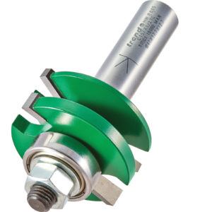 """Trend CRAFTPRO Bearing Guided Combination Raised Bevel Router Cutter 41mm 17mm 1/2"""""""