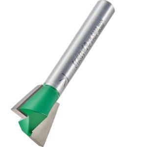 "Trend CRAFTPRO Dovetail Jig Router Cutter 15.9mm 14mm 1/4"""