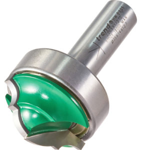 """Trend CRAFTPRO Bearing Guided Classic Decor Router Cutter 35mm 14.3mm 1/2"""""""