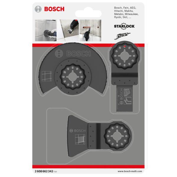 Bosch 3 Piece Tile Cutting Starlock Oscillating Multi Tool Blade Set