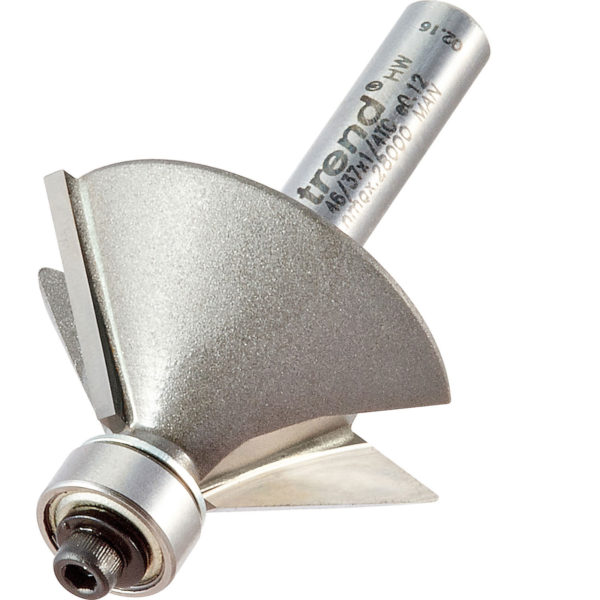 """Trend Chamfer Bearing Guided Router Cutter 31.8mm 12mm 1/4"""""""