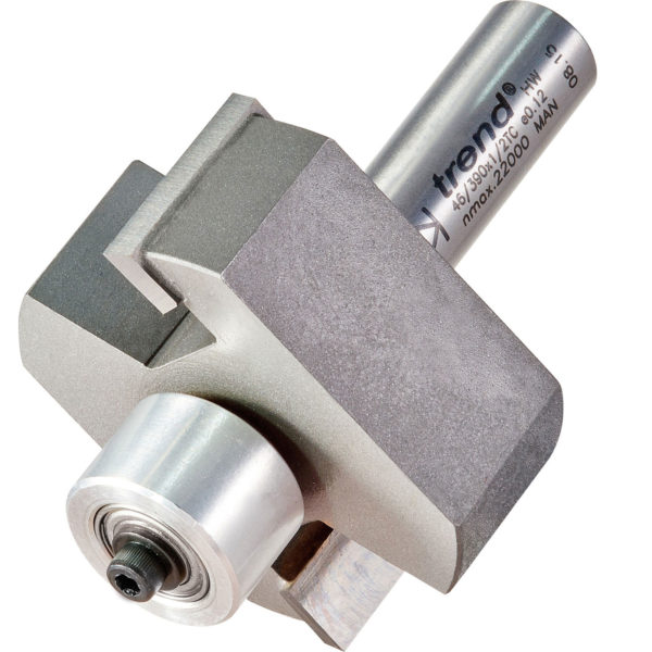 """Trend Large Bearing Guided Rebate Router Cutter 50.8mm 22.5mm 1/2"""""""