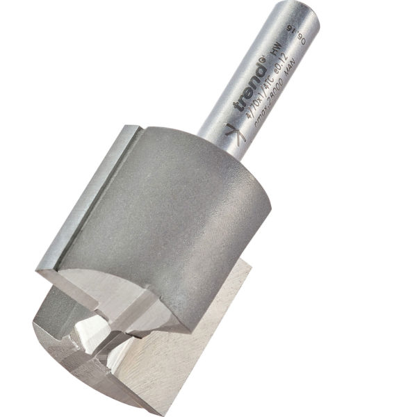 """Trend Professional Two Flute Straight Router Cutter 25mm 25mm 1/4"""""""
