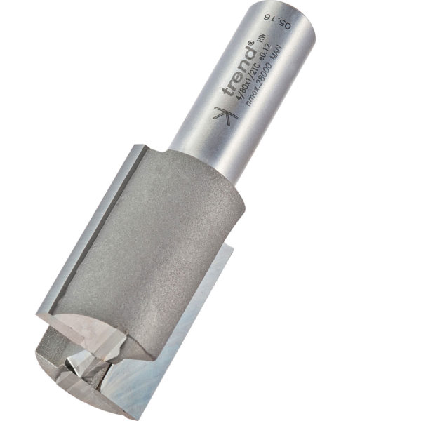 """Trend Professional Two Flute Straight Router Cutter 25.4mm 37mm 1/2"""""""