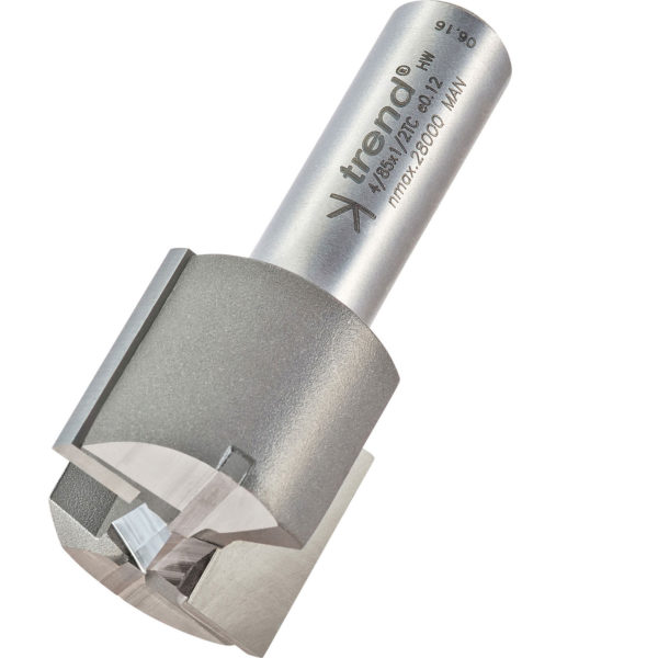 """Trend Professional Two Flute Straight Router Cutter 28mm 25mm 1/2"""""""