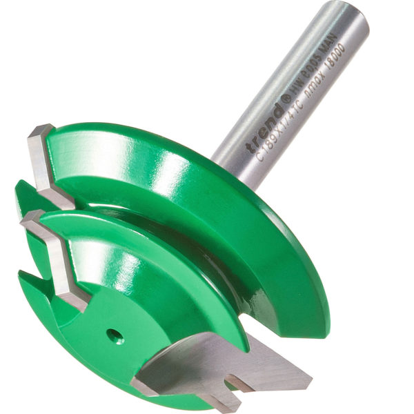 """Trend CRAFTPRO Mitre Lock Joint Router Cutter 42mm 14.3mm 1/4"""""""