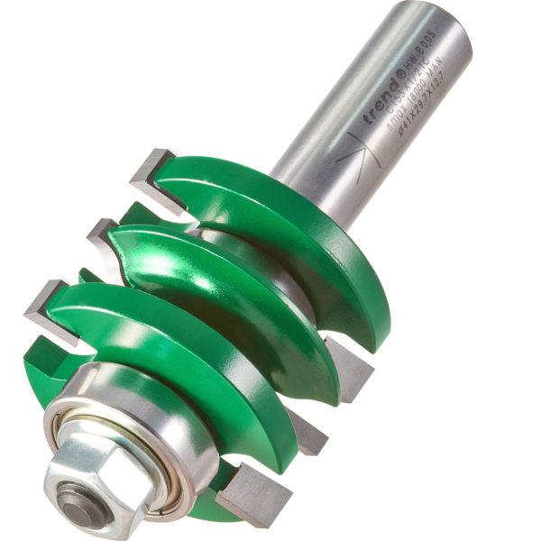 """Trend CRAFTPRO Bearing Guided Easyset Ogee Router Cutter 41mm 17mm 1/2"""""""